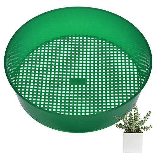 Gqavril12 Tamis à Pierre filtrante Tamis Jardinage pour la Terre Tamis Terre Jardinage Tamis de Jardin en Plastique pour Planter pour la Plantation de Plantes en Pot 21 * 5cm(Vert)