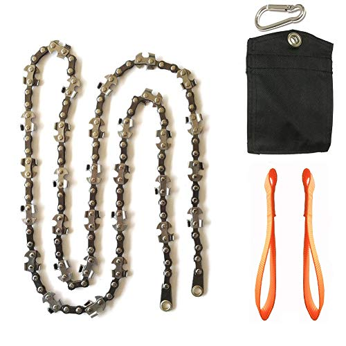 Homyall 48 Inch High Reach Tree Limb Hand Rope Chain Saw for Tree Trimming-Upgraded Pocket Manual Chainsaw with 62 Sharp Blades on Both Sides for Gardening Camping Survival Gear-No Ropes Included