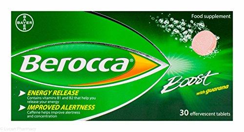 Berocca Boost Sugar Free With Guarana - 30 Effervescent Tablets