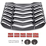 KUAFU Rear Window Louvers Vent Windshield Sun Shade Cover GT Lambo Style Compatible with 2015-2020 Mustang