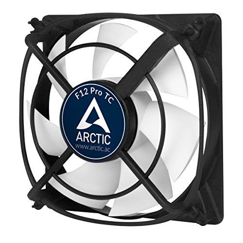 ARCTIC F12 Pro TC - 120 mm, Ventilateur Haute Performance, Ventilateur Boitier, Refroidisseur Silencieux pour Unité Centrale, Support Anti-Vibration, Contrôle par la Température, 400-1300 RPM
