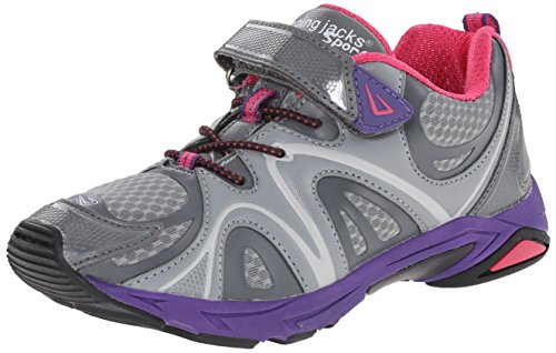 Jumping Jacks Titan Sneaker (Toddler/Little Kid),Grey/Pink,32 EU(13.5 M US Little Kid)