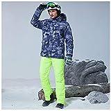 Juego de chaqueta de esquí y pantalones – impermeable para montaña, nieve, snowboard, invierno, al aire libre, resistente al viento, traje de nieve para hombres, 8,2XL
