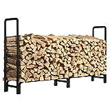 KINGSO 8ft Firewood Rack Outdoor...