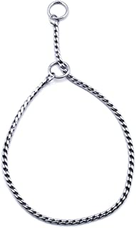 SGODA Silver Dog Chain Collar Choke Pet Training Snake Collar with Heavy Links