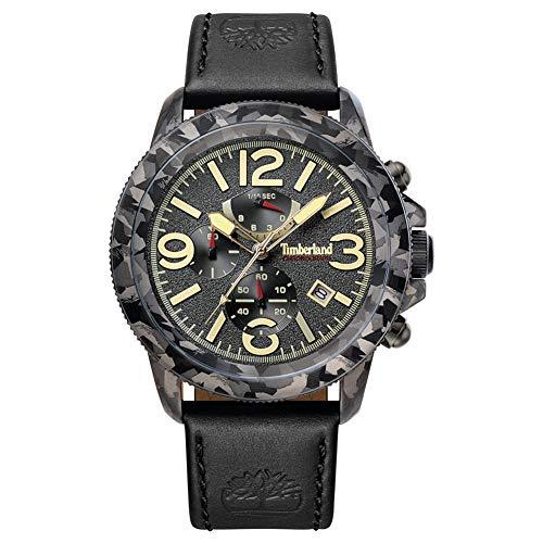 Timberland Herren Chronograph Quarz Uhr mit Leder Armband TBL15474JSGY.61