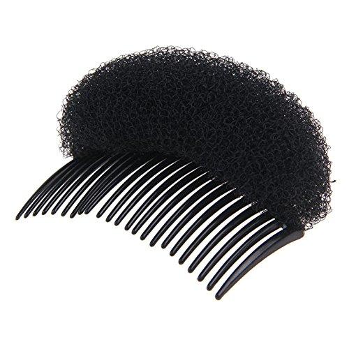 Volumenkissen Frisurenhilfe Haarkissen Haarstyling mit Haarkamm (HT009) (Schwarz)