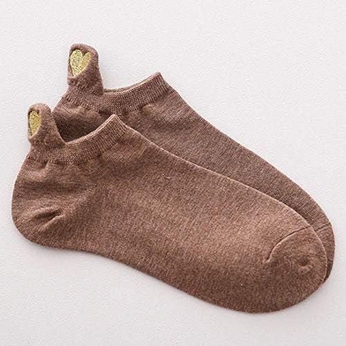 ZYJ 3 paar Leuke Borduurwerk Liefde Hart Sokken Mode Grappige Sokken Hak Met Glitter Goud Zijde Rood Hart Enkel Sokken