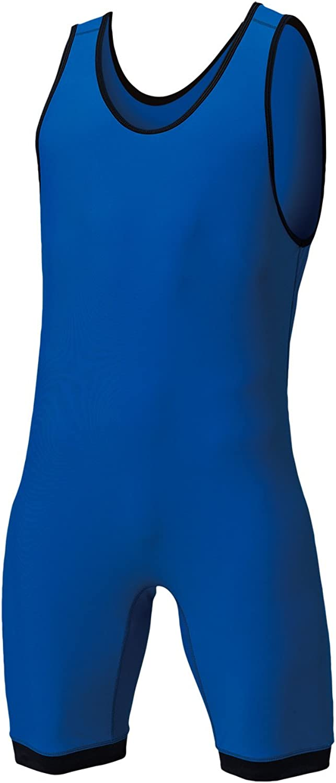 Wundou (Movement) Wrestling Weightlifting Singlet Royal bluee P440005 Royal bluee L