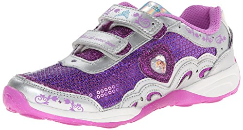 Stride Rite Baby Girl's Disney Wish Lights Anna & Elsa H&L (Toddler) Magenta/Silver Sneaker 7 Toddler M