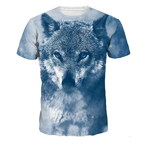 DREAMING-Farbdigitaldruck Paar Kurzarm Tops Herren Und Damen Frühling Und Sommer Freizeit Sport T-Shirts XXXL