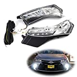 iJDMTOY OEM-Spec LED Daytime Running Lights/Turn Signal Compatible With 2015-2017 Toyota Camry LE SE or Special Edition (Switchback White LED DRL, Amber LED Blinker Lamp)