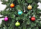 64 Christbaumkugeln 6cm Kugelbox Kunststoff bruchfest // Dekokugeln Weihnachtskugeln Baumkugeln Baumschmuck Set Inge-Glas Plastik PVC 60mm (Mille-Fiori) - 2