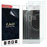 J&D Compatible para 3 Paquetes Xperia XA1 Protector de Pantalla, [NO Cobertura Completa] Prima Escudo de Película Transparente HD Protector de Pantalla para Sony Xperia XA1