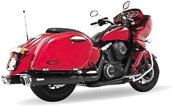 Freedom Performance Racing Dual Exhaust System - Black Mufflers - Chrome Tips , Color: Black MV00018