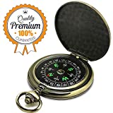 ydfagak Compass Premium Portable Pocket Watch Flip-Open Compass Camping Hiking Compass Outdoor Navigation Tools