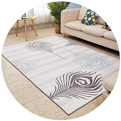 RUG NNIU vierkant wollen deken, korte pile antislip groot tapijt woonkamer slaapkamer salontafel mat bed blanket -6mm