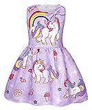 AmzBarley Vestido Unicornio de Las Muchachas Vestidos de la Princesa sin Mangas para la Fiesta...