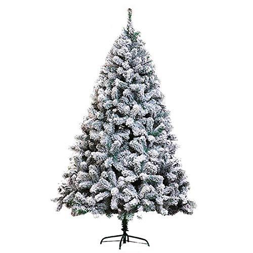 ZMIN Enneigées Artificiel Sapin De Noël, Unlit Blanc Pulvérisation De Neige Pin Facile à Assembler Mall Mariage Parti-4ft(1.2m)