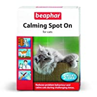 Beaphar Calming Tablets can be used safely on all breeds and ages of cats. Beaphar Calming Spot On for cats naturally and effectively calms and reduces problem behaviour in cats of all breeds and ages. Containing Valerian extract, a single applicatio...