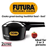 Futura Hard Anodised Induction Compatible Pressure Cooker, 2 Litre