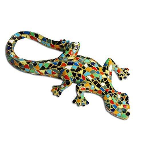 Hübsche Große Mosaik Farbige Frosch aus Kunstharz, Garten oder Teich Deko!