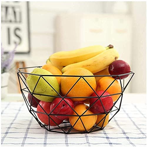 leoye Fruit Bowls Fruit Plate Metal Crafts Wrought Iron Fruit Bowl Candy Dish Creative Home Living Room Desktop Snack Fruit Basket Cooyele (Color : B)