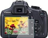 Protector de pantalla T7 para Canon EOS Rebel T7 T6 1500D 1300D LCD (2 unidades), KOMET 9H vidrio templado cámara DSLR película protectora