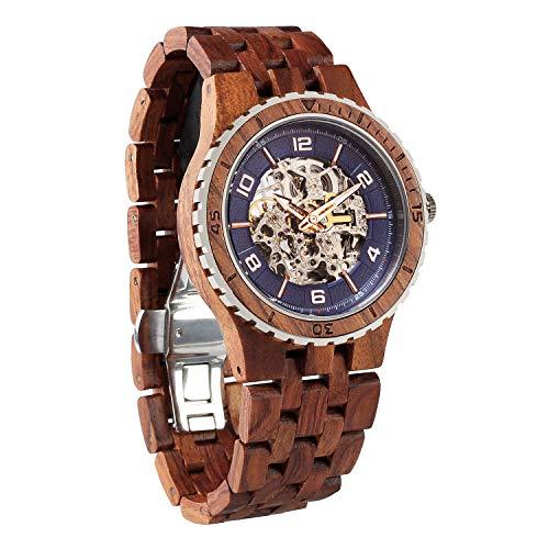 Hochwertige Herrenarmbanduhren aus Holz Automatische & ökologische Armbanduhren Wilde Holzuhren, handgefertigt, natürliche & ökologische Geschenkidee für Ihn