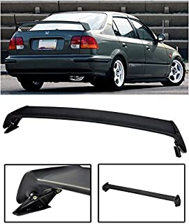 Extreme Online Store for 1996-2000 Honda Civic 4Dr Sedan | EOS Mugen Style JDM ABS Plastic Primer Black Rear Trunk Lid Wing Spoiler