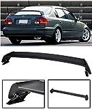 Extreme Online Store for 1996-2000 Honda Civic 4Dr Sedan | EOS Mugen Style JDM ABS Plastic Primer Black Rear Trunk Lid Wing Spoiler