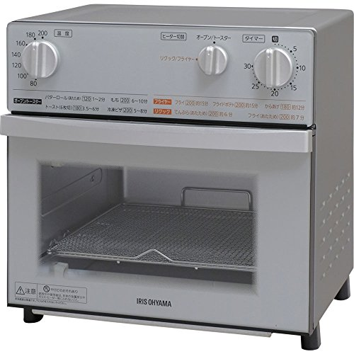 アイリスオーヤマ オーブントースター トースト 4枚 ノンフライ スチーム機能搭載 シルバー FVX-D3B-S