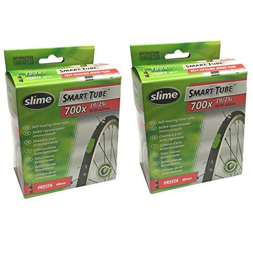 Slime Smart Tube Self Healing 700c x 19 25 Presta Inner Tubes Pack of 2