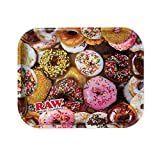 Donut Theme Large Metal Rolling Tray