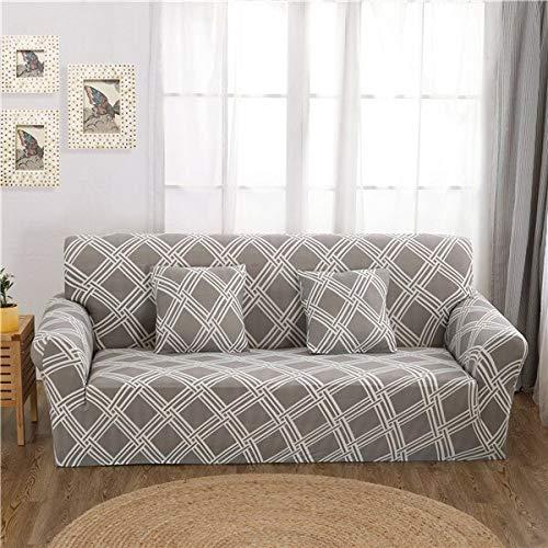 WXQY Funda de sofá elástica Moderna, Utilizada para la Funda Ajustada de la Sala de Estar, Funda de sofá con Todo Incluido, Funda de protección de Muebles A19 de 4 plazas