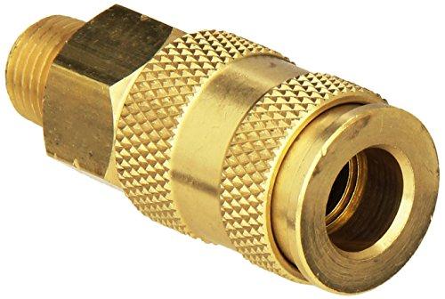 Milton Industries S-765 HI-Flo V-Style -FeetA,M,V-Feet 1/4-Inch MNPT Brass Body, Single