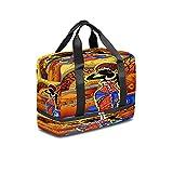 BOLOL Bolsa de viaje para mujer africana, bolsa de deporte, bolsa de gimnasio, tribal étnica para mujer