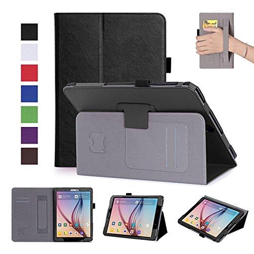 ISIN Folio Funda Case Cover Carcasa para Samsung Galaxy Tab S3 9,7 SM-T820 SM-T825 Android Tablet(Negro)