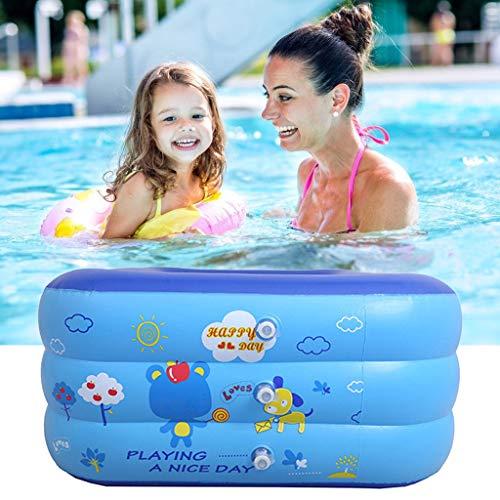 WZYJ Piscine bébé Enfants Gonflable, rectangulaire Cartoon Piscine, Été Enfants Baignoire Enfants Party Jardin intérieur Piscines extérieures Swim