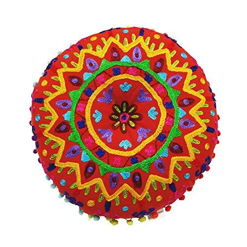 JISHYU-Q Cojín redondo de 13.7 pulgadas para silla india, cojín de suelo, meditación, yoga, cojín para el hogar, decoración para el sofá, cama, ventana de coche