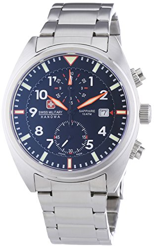 Swiss Military Airborne Chrono - Reloj, Correa de Acero Inoxidable