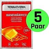TerraTherm Handwärmer, Taschenwärmer für 12h warme Hände, Wärmepads Hand durch Luft aktiviert, 100% natürliche Wärme, Fingerwärmer, 5 Paar