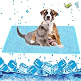 Colchon Mascotas para Verano,100*70cm Alfombrilla Refrigerante Perros/Gatos,Enfriamiento para Camas de Mascotas,Plegable,Resistente a la Rotura,Ideal para Mantener a Las Mascotas Frescas (XL)