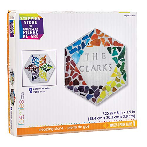 Darice Stepping Stone Kit: Hexagon, 8 Inches, 8 Pieces, Makes 1, Multicolor