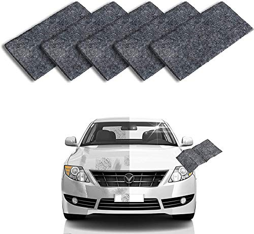 Biaoyun 5Pack Upgraded Version Nano Magic Cloth, Magic Car Scratch Remover Cloth for Car Scratches, Multipurpose Scratch Repair Cloth,Surface Polishing, Water Spot, Rust and Scratch Remover