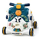 Best Baby Walkers - GYMAX 3-in-1 Stand and Ride Baby Walker, Sit-to-St Review