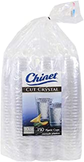 Chinet Cut Crystal 10 Oz Plastic Cups (150Count),