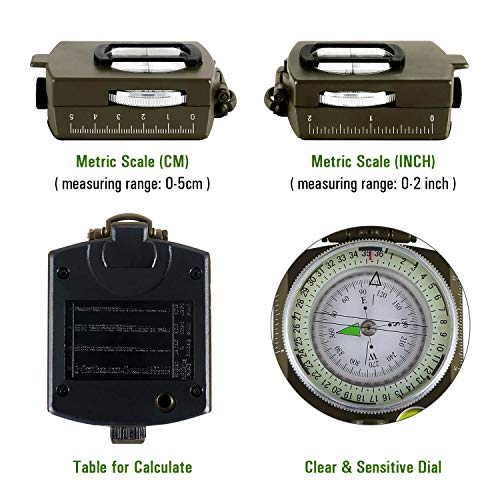 Eyeskey Military Lensatic Tactical Compass