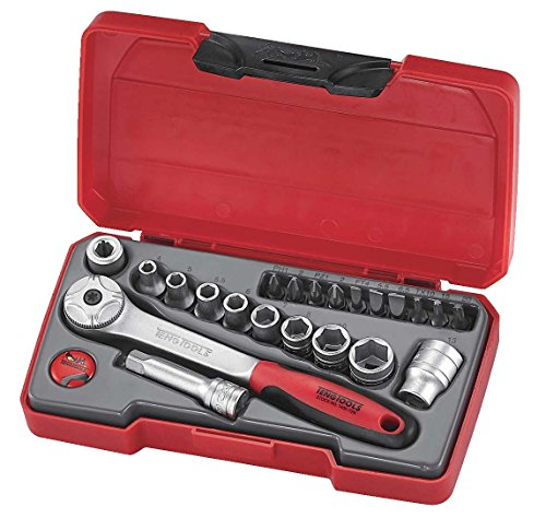 Tengtools T1422 Mini-dopsleutelset, 1/4 inch, 22-delig