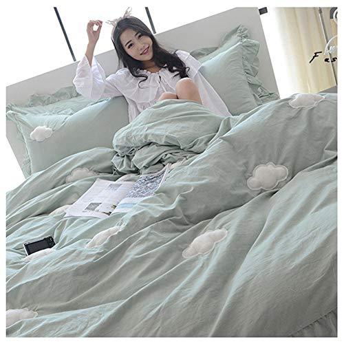 ZYDJ DCS 3 Stks Ultra Soft Quilt Cover Sets Dubbel Dekbedovertrek Bed Set Dekbedovertrek, Hoeslaken, Envelop Kussenslopen Luxe Soft Touch Lichtgewicht Decoratief (Tweepersoons)